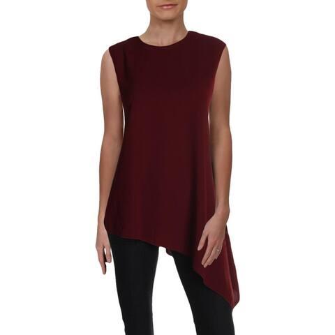 Anne Klein Womens Blouse Sleeveless Asymmetrical