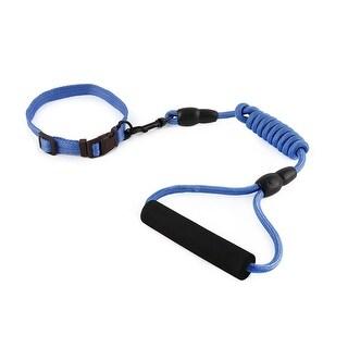 Dog Travel Picnic Nylon Adjustable Leash Rope Neck Collar Chain (Dark Blue, S)