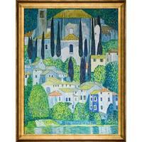 Gustav Klimt 'Kirche in Cassone' Hand Painted Oil Reproduction
