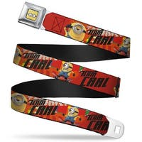 Minion Dave Face Close Up Full Color Minion Carl Poses Team Carl Red Black Seatbelt Belt