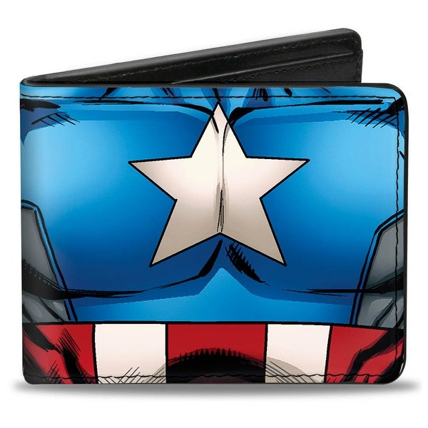 Marvel Avengers Captain America Chest Star & Stripes Bi Fold Wallet - One Size Fits most