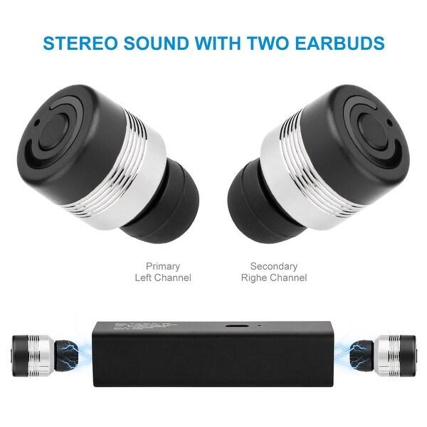 0c47dd29512 Wireless TWS Mini True Twins Bluetooth Stereo Headset In-Ear Earphone  Earbuds,color black