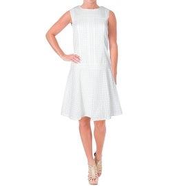 BOSS Hugo Boss Womens Embroidered Drop Waist Wear to Work Dress - 2