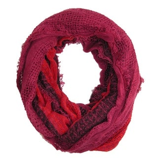 David & Young Women's Striped Single Loop Scarf - One size