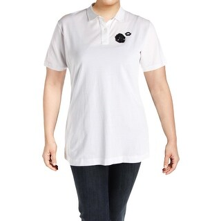 No. 21 Womens Plus Polo Top Pique Embellished - 48
