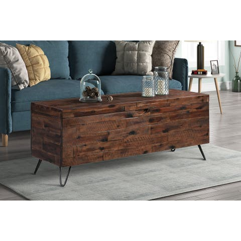 Hailey Acacia Wood 46-inch Storage Bench