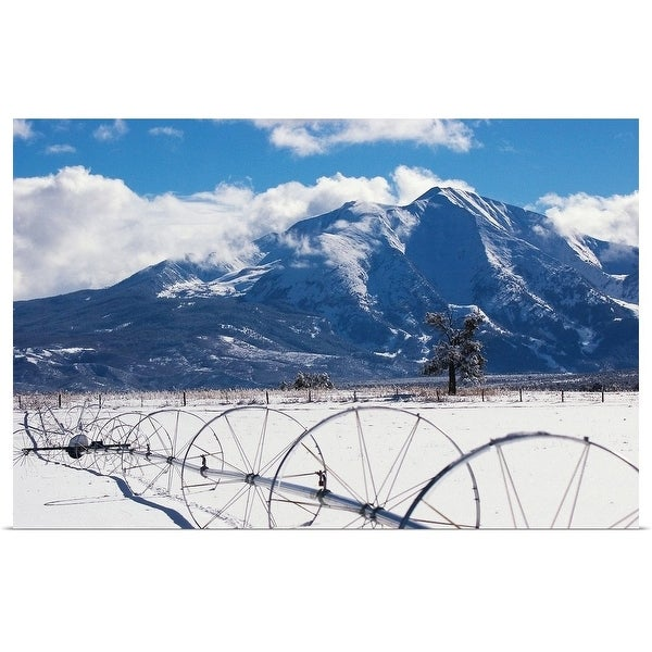 """""""Mount Sopris over ranch in Carbondale, CO"""" Poster Print"""