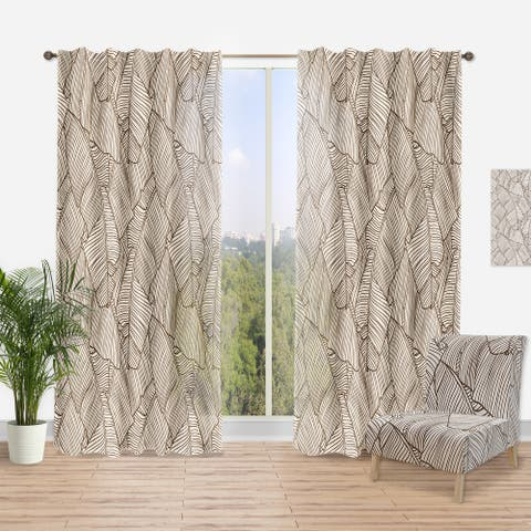 Designart 'Leaves of Palm Tree' Tropical Curtain Panel