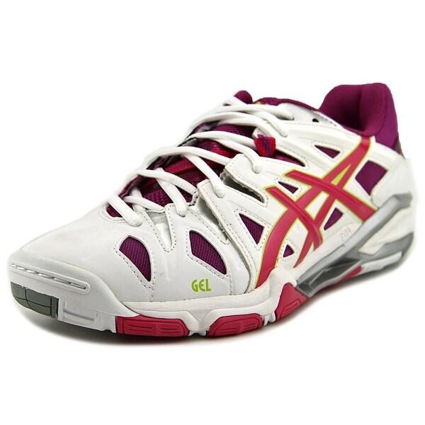 Asics Gel-Sensei 5 Women White/Magenta/Lime Sneakers Shoes