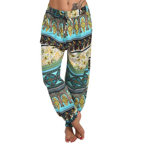 Chunhe Womens Yoga Sweatpants Loose Comfy Drawstring Lounge Pants Casual Harem Joggers Plus Size Trousers Green S