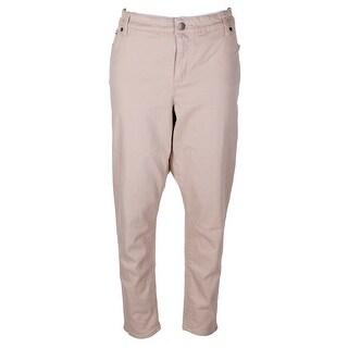 Lauren Ralph Lauren Plus Size Beige Premier Skinny Crop Jeans W