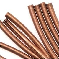 Antiqued Copper Plated Curved Tube Noodle Beads 26mm (20 Beads)