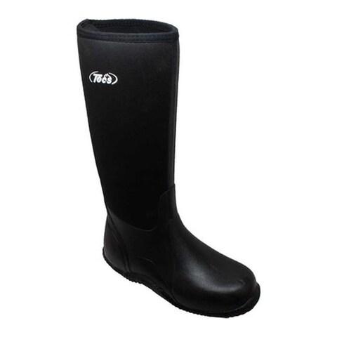"Tecs Men's 9736 16"" Rubber Hunting Boot Black Rubber"