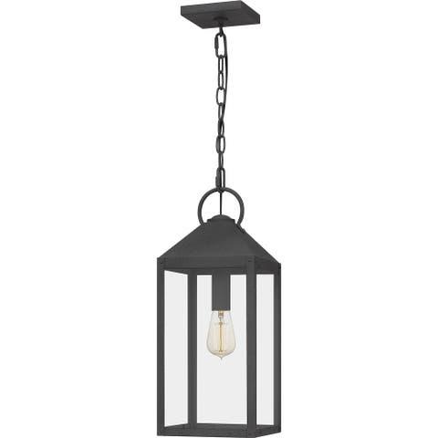 Thorpe Outdoor Hanging Lantern - Mottled Black