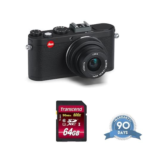 Leica X2 Digital Compact Camera w/ Elmarit 24mm f/2.8 ASPH Lens Black -