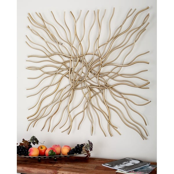 Gold Iron Contemporary Wall Decor Abstract. Opens flyout.