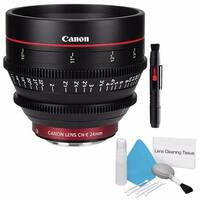 Canon CN-E 24mm T1.5 L F Cine Lens (International Model) + Deluxe Cleaning Kit Bundle (AF6CANCNE2415LB3)