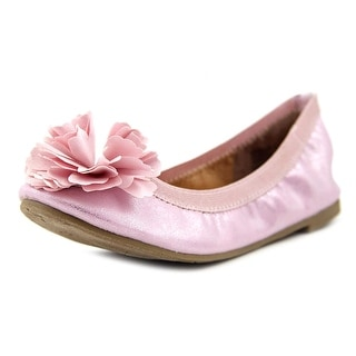 Report Wilkes Youth Round Toe Synthetic Pink Flats