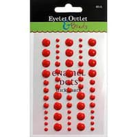 Eyelet Outlet Adhesive-Back Enamel Dot 60/Pkg-Red