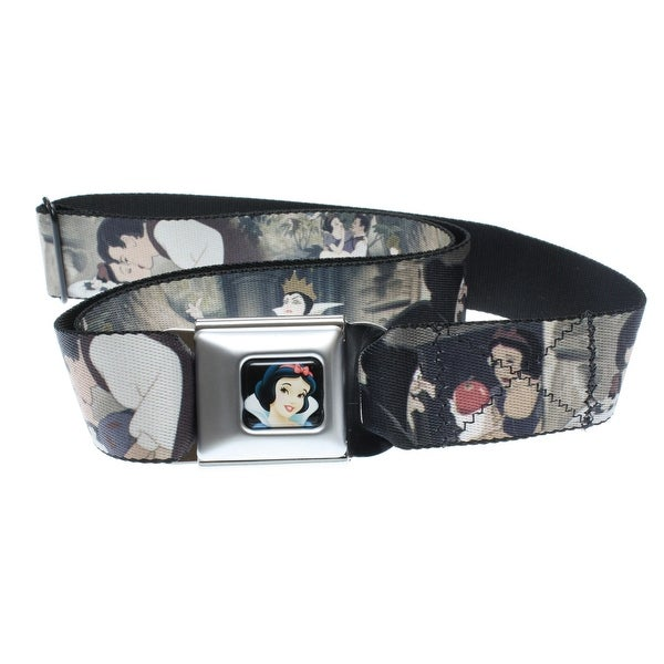 Walt Disney Seatbelt Belt - Snow White & Seven Dwarfs - Prince, & Queen Grimhilde-Holds Pants Up