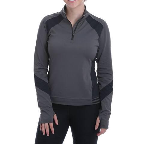 Cinch Western Sweatshirt Womens Athletic 1/4 Zip Logo Print