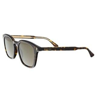 Gucci GG0125S 002 Havana Square Sunglasses - 49-20-145