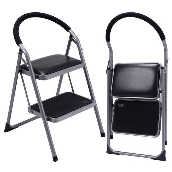 Tremendous Shop Costway Non Slip 2 Step Ladder Lightweight Folding Machost Co Dining Chair Design Ideas Machostcouk