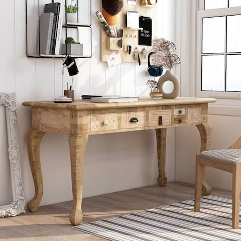 Furniture of America Carina Solid Wood Desk