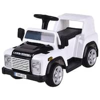 Costway Land Rover Defender Kids Ride On Car 6V Electric Battery Powered Remote Control - White