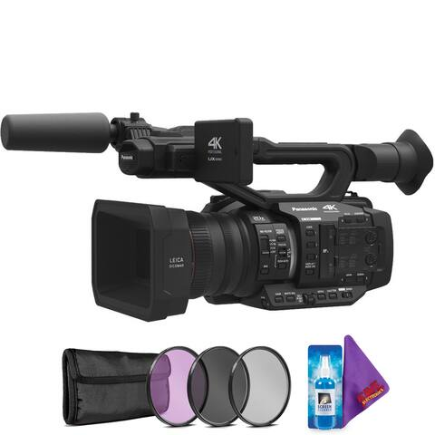 Panasonic AG-UX180 4K Premium Professional Camcorder + Pro Accessories Bundle