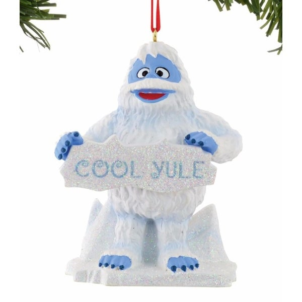 "Department 56 North Pole Rudolph the Red Nosed Reindeer Series ""Bumble On Ice"" Christmas Ornament #4040300 - WHITE"