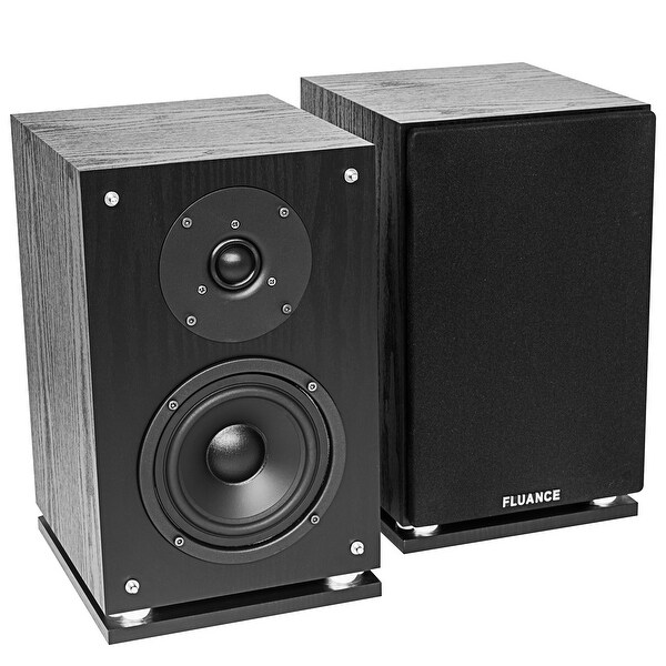 Fluance SX6-BK High Definition Two-way Bookshelf Loudspeakers-Black