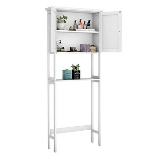 Toilet Over The Toilet Bathroom Storage Space Saver with Shelf Collect