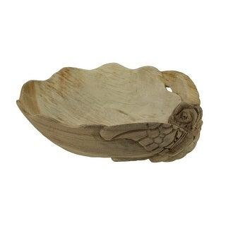 Decorative Wooden Sea Turtle Seashell Bowl
