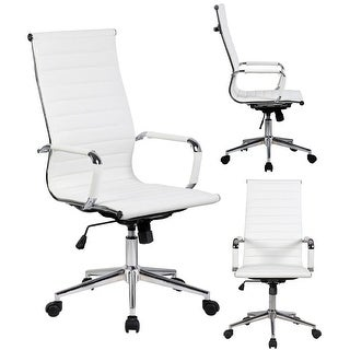 modern white office chair. 2xhome white executive ergonomic high back modern office chair ribbed pu  leather swivel for manager conference modern white office chair