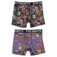 Five Nights at Freddy's Action Underwear Freddy Foxy Bonnie Chica 2 Pack Boys Boxer Briefs
