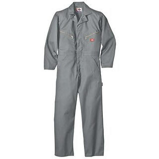 Dickies Men's Deluxe Small Grey Long Sleeve Blended Coverall
