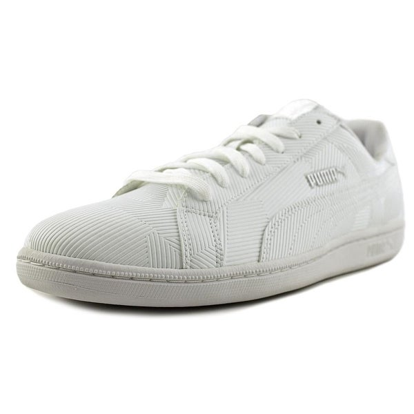 dc534e12b29 Shop Puma Smash Deboss Men Puma White-Puma White Sneakers Shoes ...