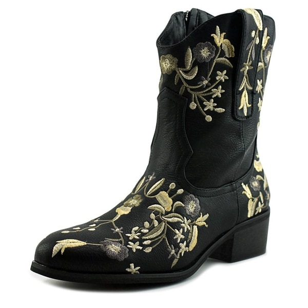 2 Lips Too Too Kicker Women Black Western Boots