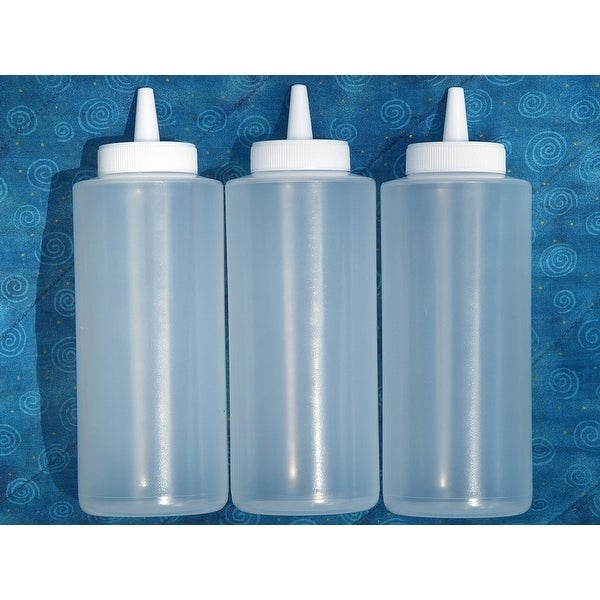 Clear Squeeze Bottles 3 Pack For BBQ, Cooking, Kitchen