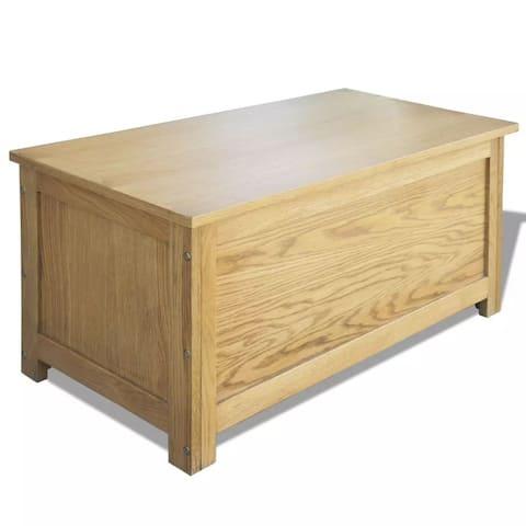"""vidaXL Storage Box Solid Oak Wood 35.4""""x17.7""""x17.7"""""""