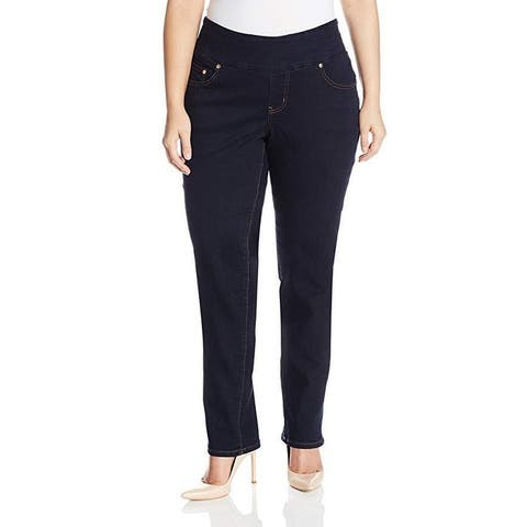 Jag Jeans Women's Plus Size Nora Skinny Pull on Jean, After Midnight, SZ 22W