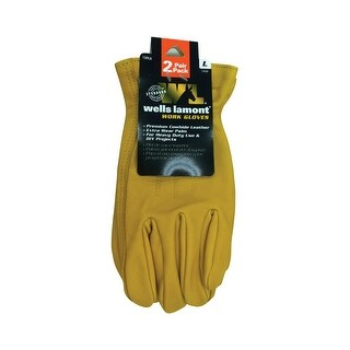 Wells Lamont 1209LN Universal Large Leather Work Gloves, Yellow