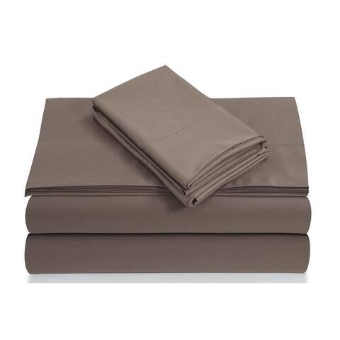 Egyptian Cotton 800 TC Deep Pocket Bed Sheet Set with Luxury-size Flat
