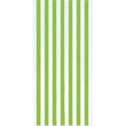 Cabana Stripes Lime 30x60 Brazilian Velour Beach Towel
