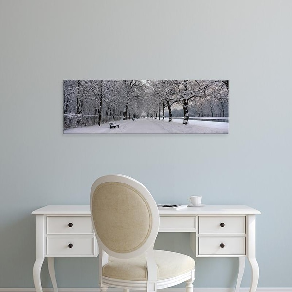 Easy Art Prints Panoramic Images's 'Fresh Snow Nymphenburg Germany' Premium Canvas Art