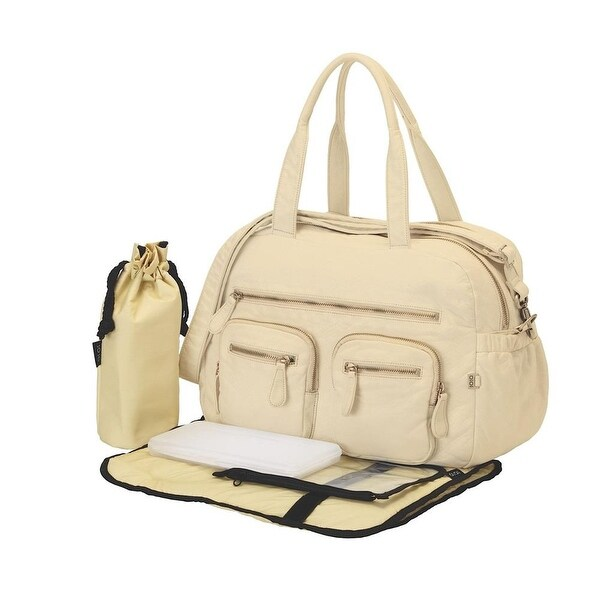 oioi Almond Faux Lizard Carry-All Diaper Bag