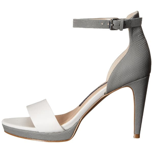 Shop French Connection Womens Nata Leather Open Toe Formal Ankle