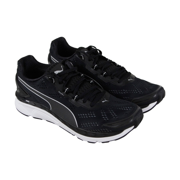 6515245a6bf7 Puma Speed 1000 Ignite Mens Black Textile Athletic Lace Up Running Shoes