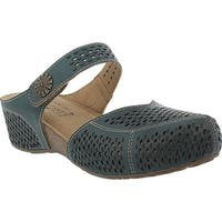 L'Artiste by Spring Step Women's Spoorti Clog Teal Leather